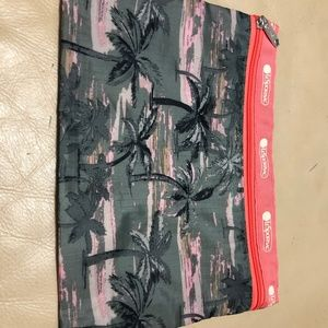 LESPORTSAC Zipper Pouch 8 x 11 inches Palm Tree